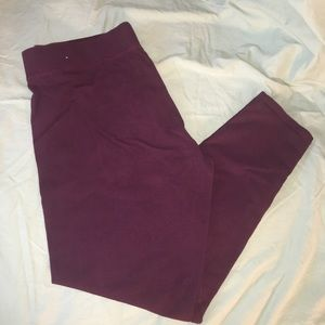 NWOT Aerie Full Length Maroon Leggings